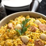 Scallops And Chorizo Paella