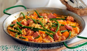 Gammon And Sausage Paella