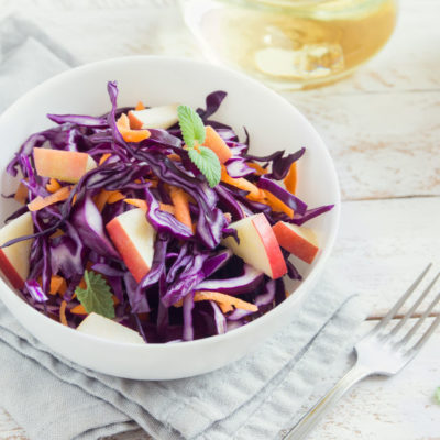 Sweet And Salty Red Cabbage Coleslaw Recipe