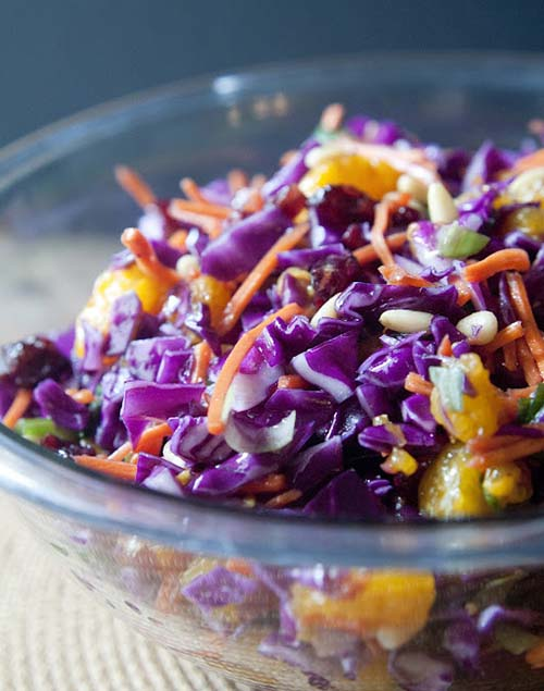 Sweet And Salty Cabbage Slaw